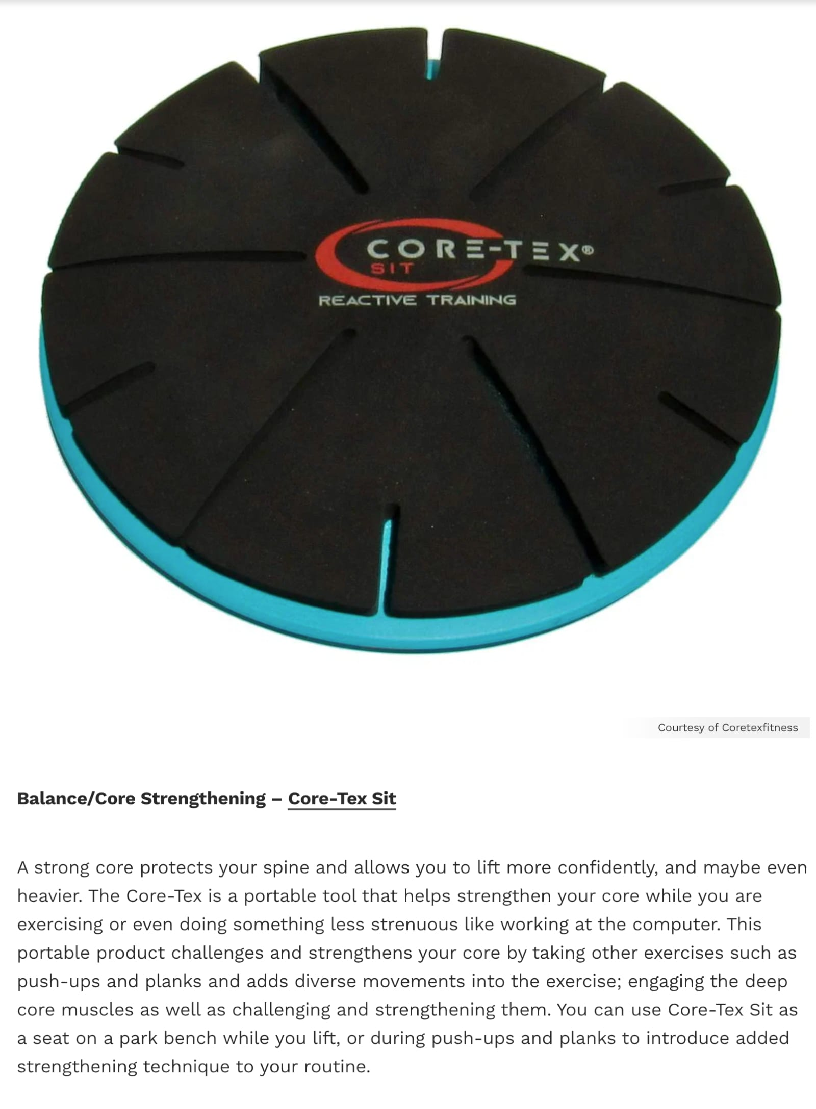 Core-Tex Sit Featured in Muscle & Fitness Magazine June 2021