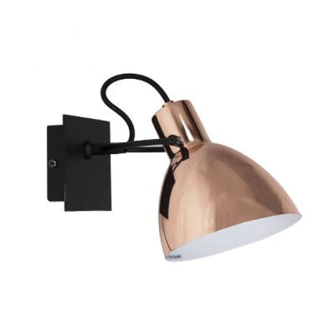 LAITO-W-CPR+BK Wall lamp - Lamptitude
