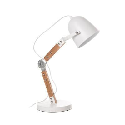 BRANCH RATCHET TABLE White Table Lamp - Lamptitude