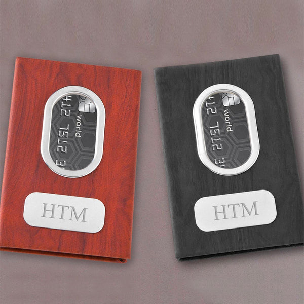 Personalized Money Clip - Black - Brown