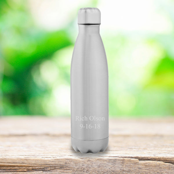 Monogrammed Stainless Steel Water Bottle