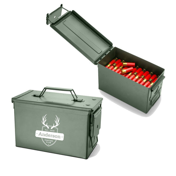 Personalized Recon Metal Ammunition Box