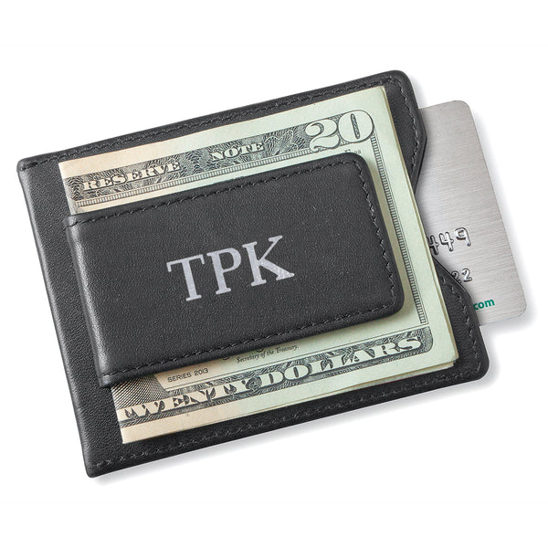 Personalized Magnetic Money Clip - Wallet - Black