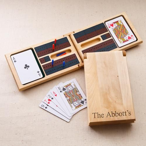 Personalized Wood Cribbage Set