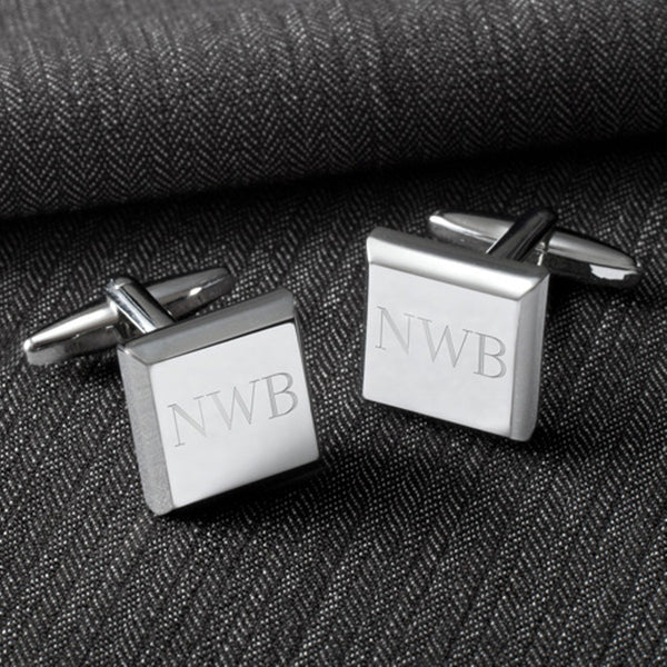 Personalized Modern Square Cufflinks