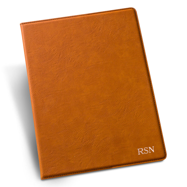 Personalized Groomsmen Rawhide Portfolio with Notepad