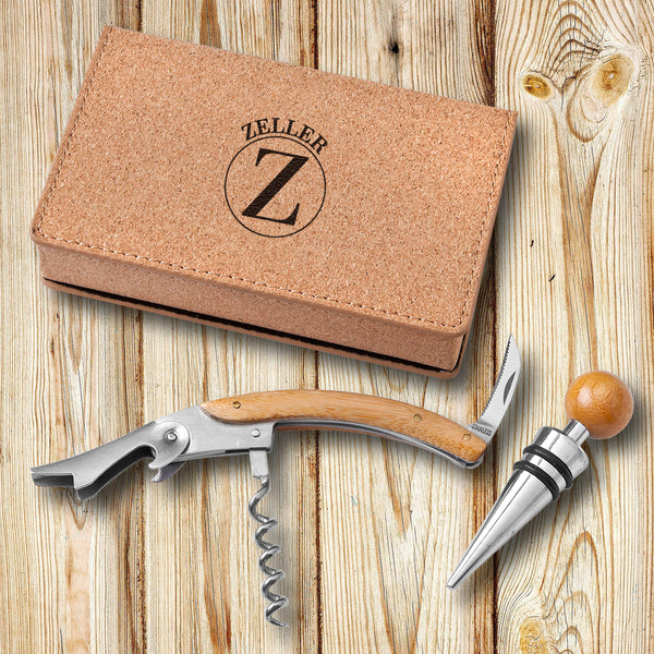 Personalized Cressa Wine Opener Tool Set  - Cork