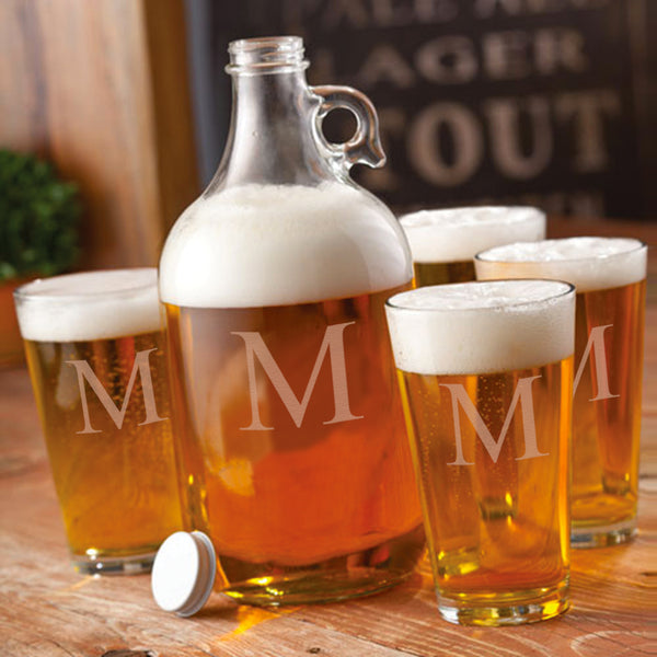 64 oz. Personalized Growler with 2 Pub Glasses