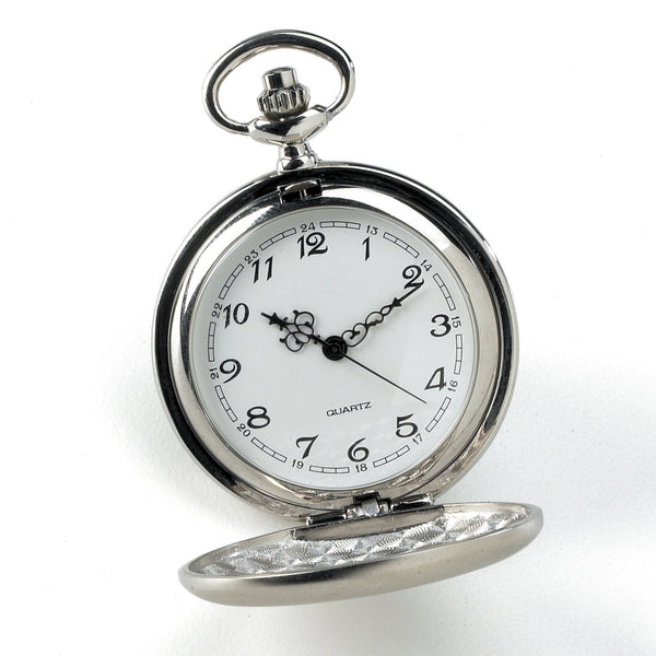 Set of 5 Personalized Brushed Groomsmen Pocket Watch