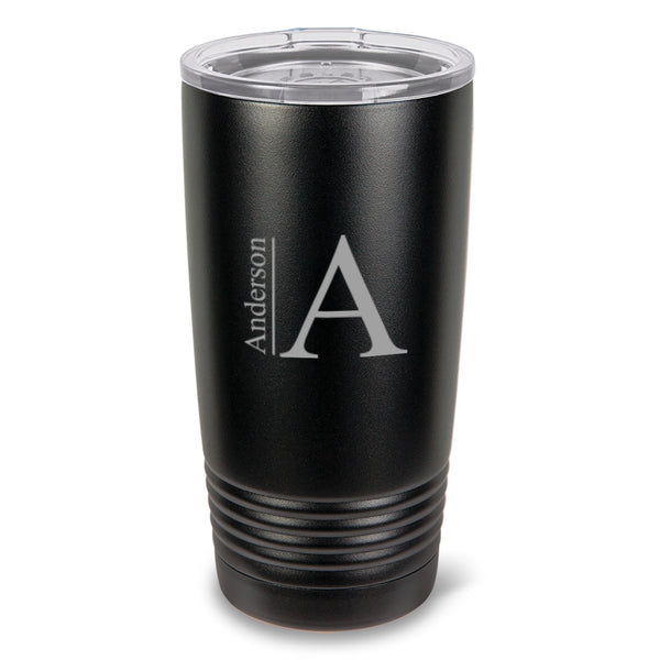 Personalized 20 oz. Black Matte Double Wall Insulated Tumbler