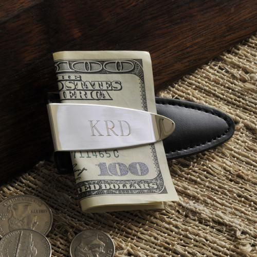 Engraved Arrowhead Money Clip