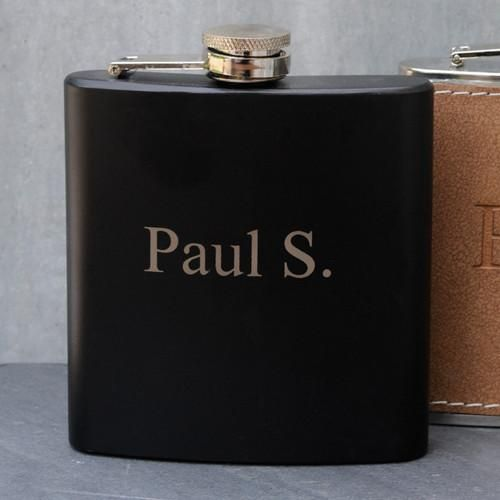 Personalized Black Matte - Stainless Steel Flask