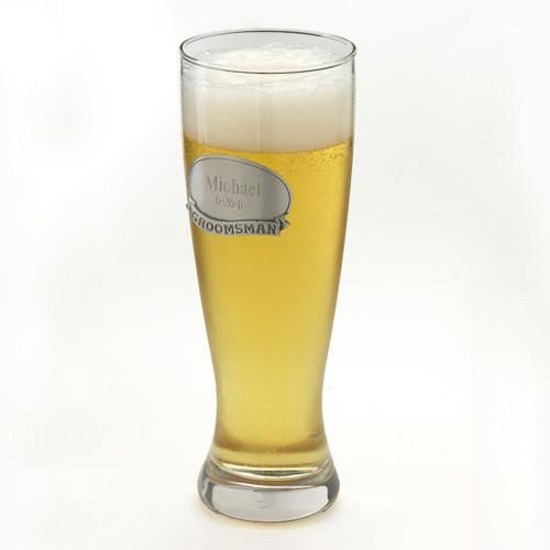 Engraved Grand Pilsner with Pewter Medallion