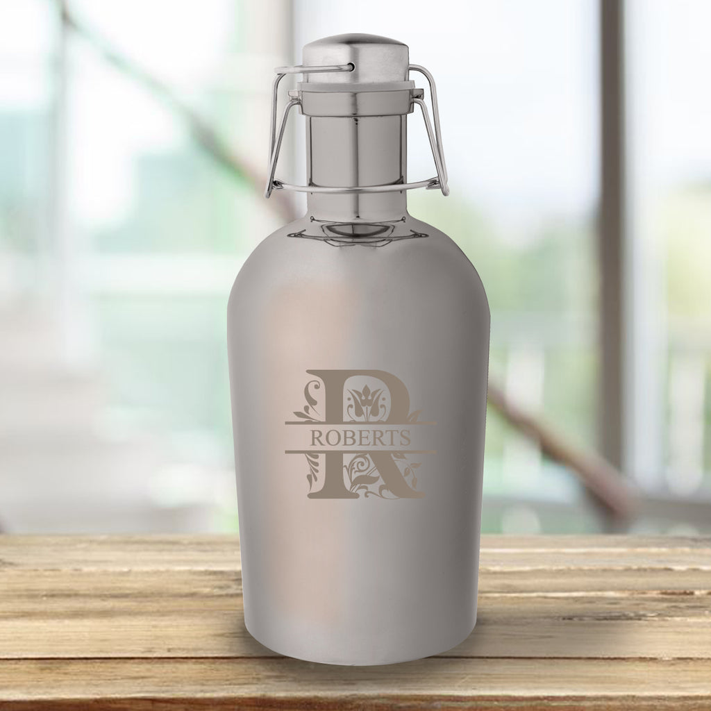 Personalized Gunmetal Growler - 64 oz. - Gifts for Him