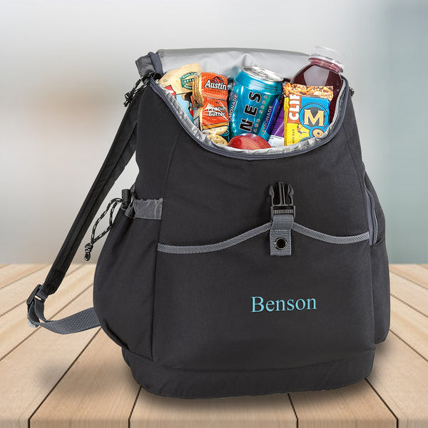 Personalized Backpack Travel Cooler - Bungee