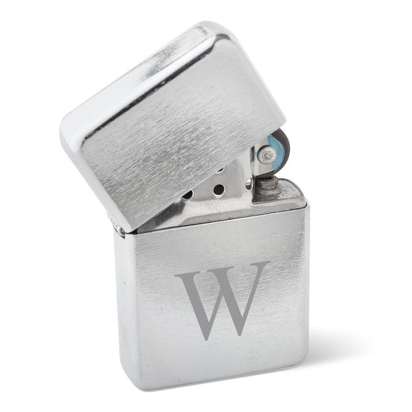 Personalized Brushed Stainless Steel Oil Lighter - Monogrammed Lighter