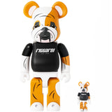 Riccardi Medicom Toy Baxter Bulldog 100% 400% Bearbrick Bearbricks Set back