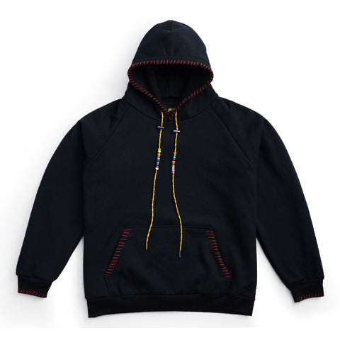 Pullover Hand Embroidered Hoodie