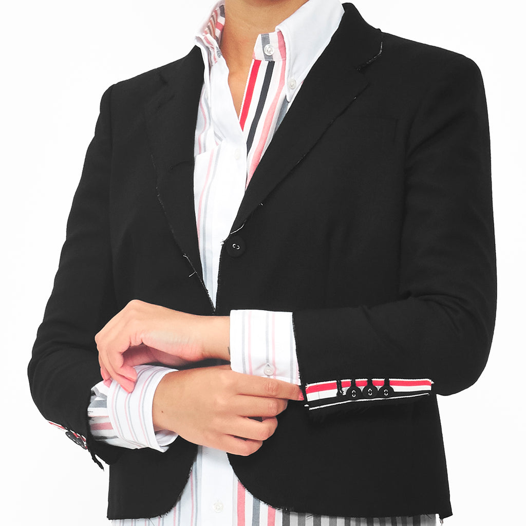 Riccardi Thom Browne Raw Edge Edged Edges Exposed Seams Blazer