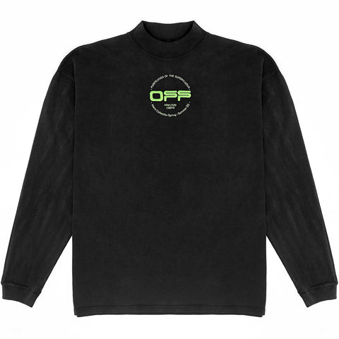 Long-Sleeved Hand w/ Logo Turtleneck Tee