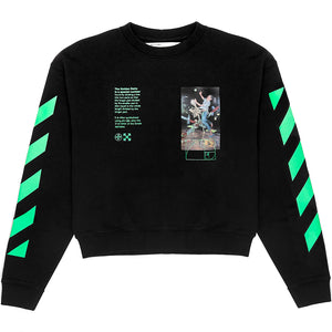 Riccardi Off White Virgil Abloh Pascal Painting Golden Ratio Diagonal Logo Stripes Striped Sleeves Sweatshirt