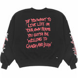 Riccardi Mike Amiri Dr Doctor Feelgood Album Motley Crüe Primal Scream Lyric Lyrics Logo Sweatshirt back