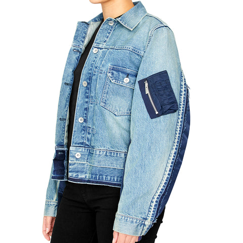 Hybrid Denim MA-1 Jacket