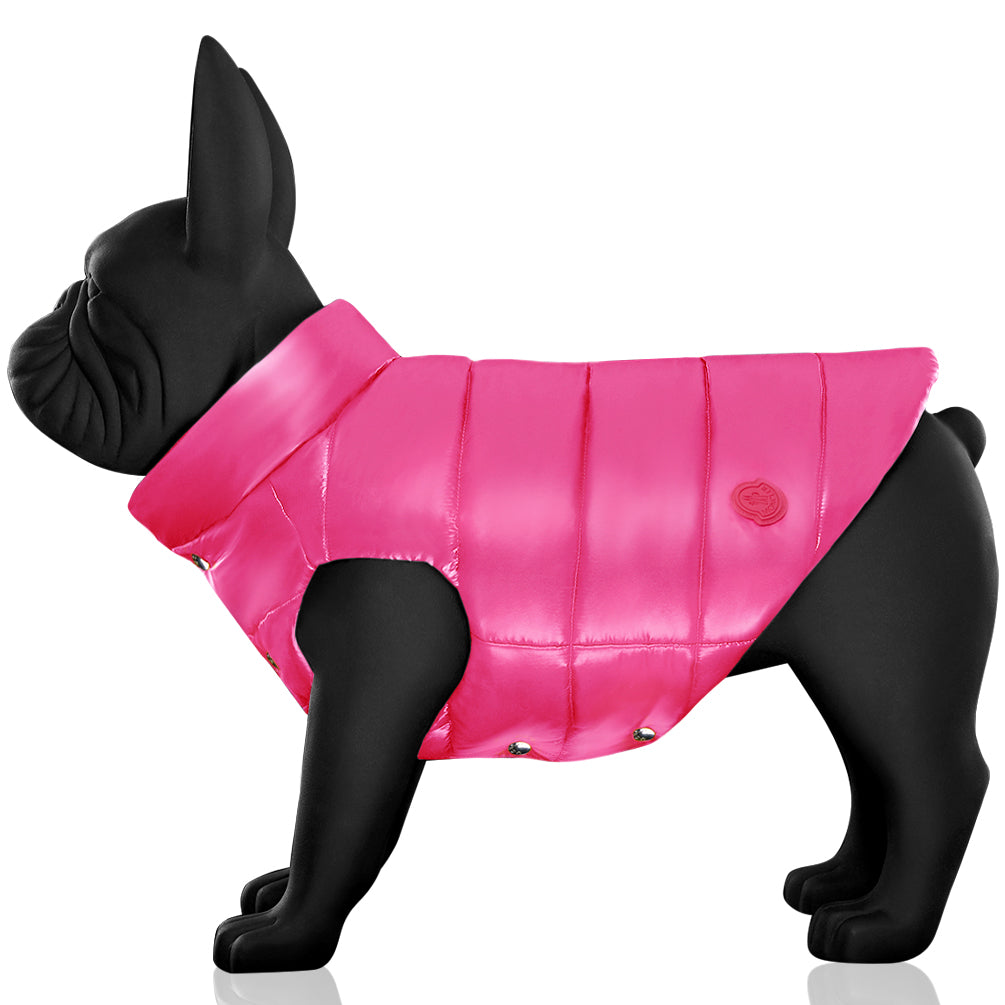 Riccardi Moncler Genius Poldo Dog Couture Padded Nylon Laqué Vest Pink