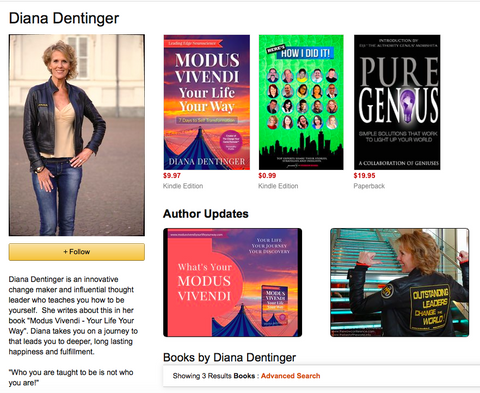 Diana Dentinger Amazon Author Page