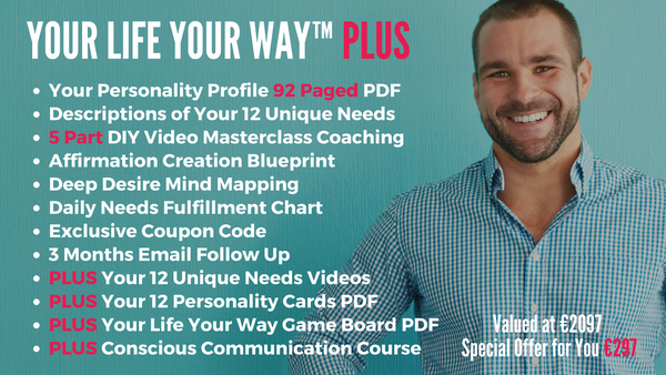 Your Life Your Way PLUS Package with Personalised Videos & Masterclass Coaching with Diana Dentinger