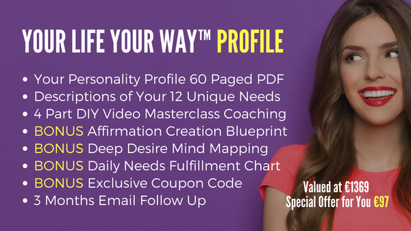 Your Life Your Way™️ Profile to Know Yourself Fully plus Coaching Videos with Diana Dentinger
