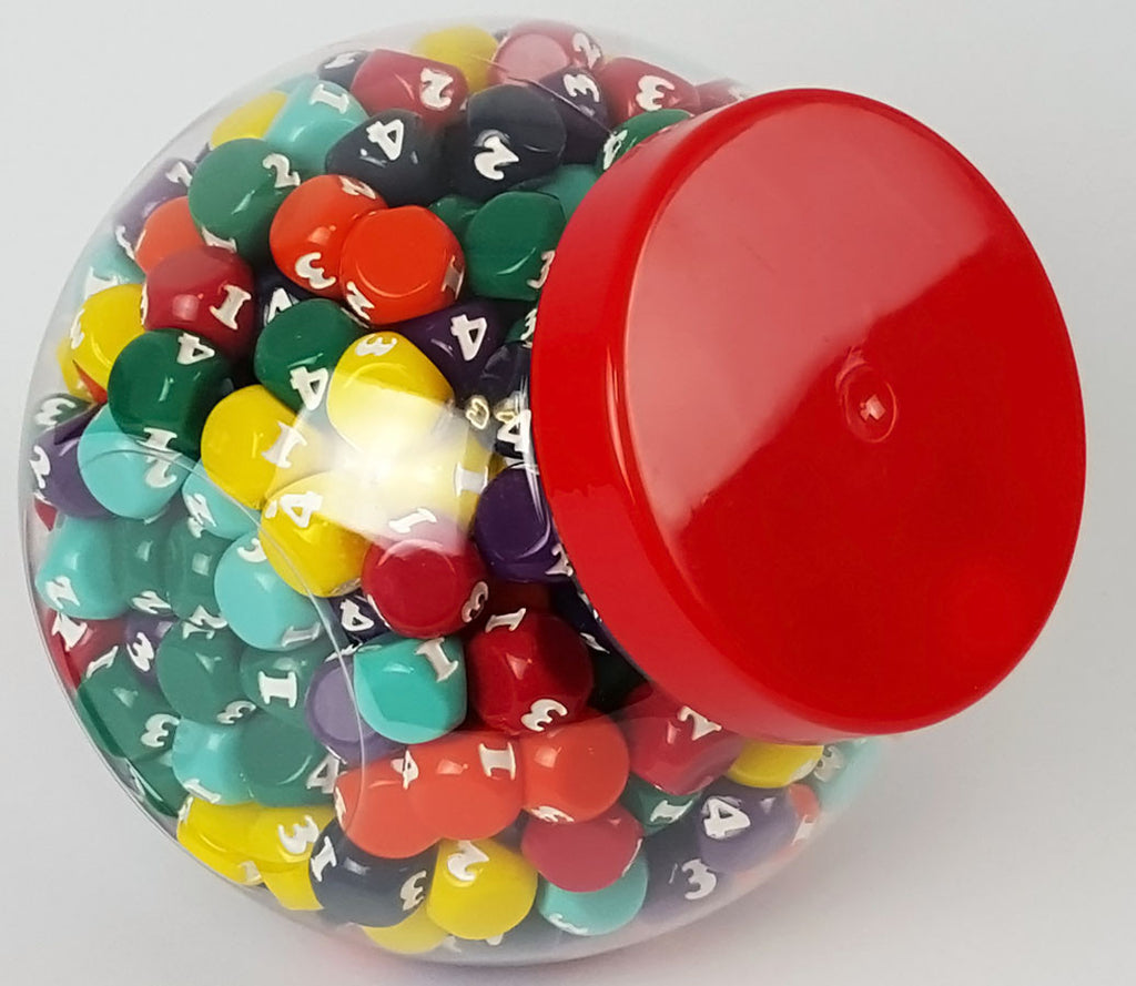 Large Candy Jar - 400 Mixed Dice