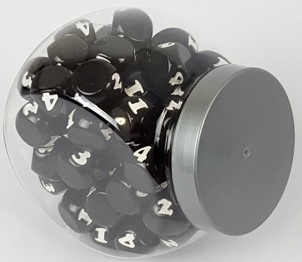 Small Candy Jar - 80 Black Dice