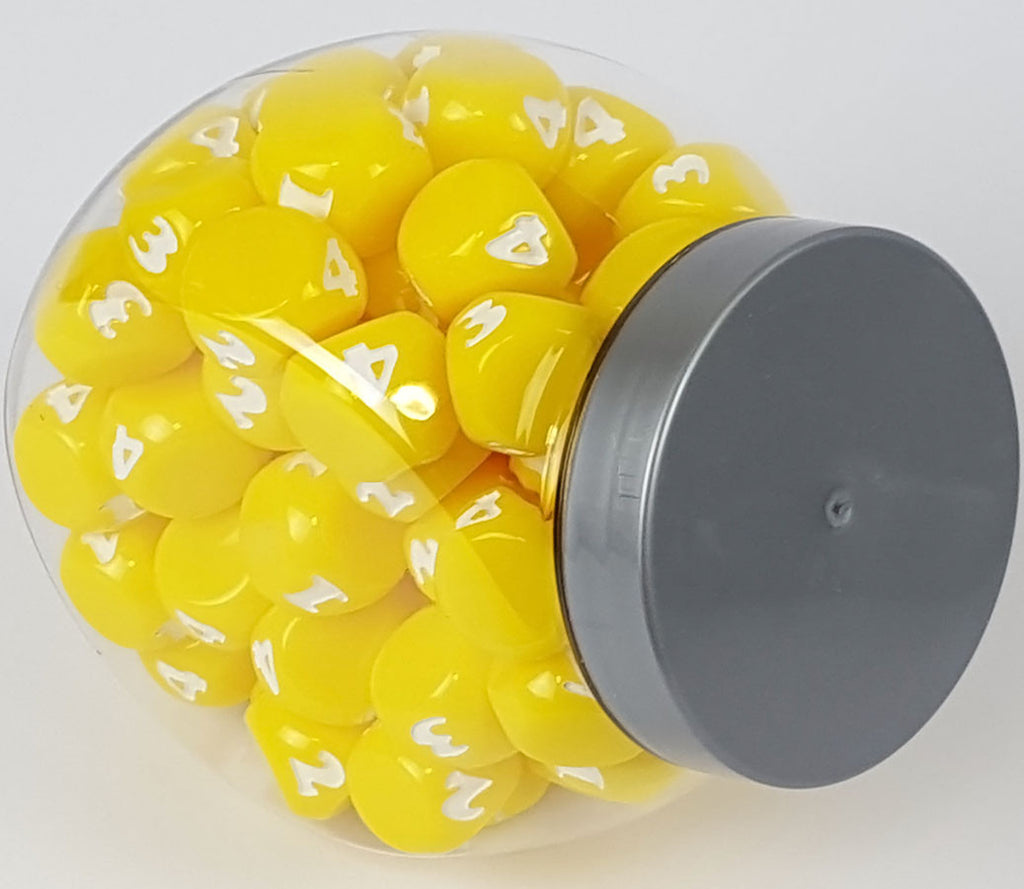 Small Candy Jar - 80 Yellow Dice