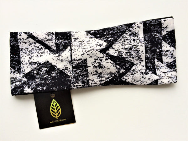 Black and White Triangle Print Head-banz