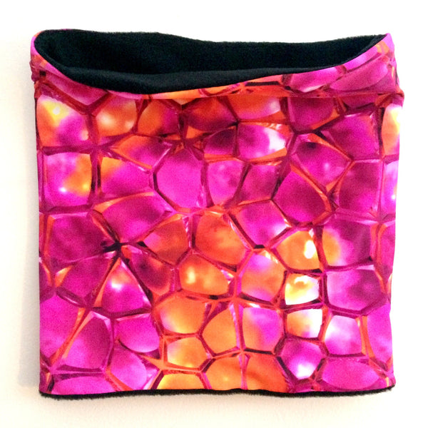 Fuschia/Orange Sparkly Print Neck-banz