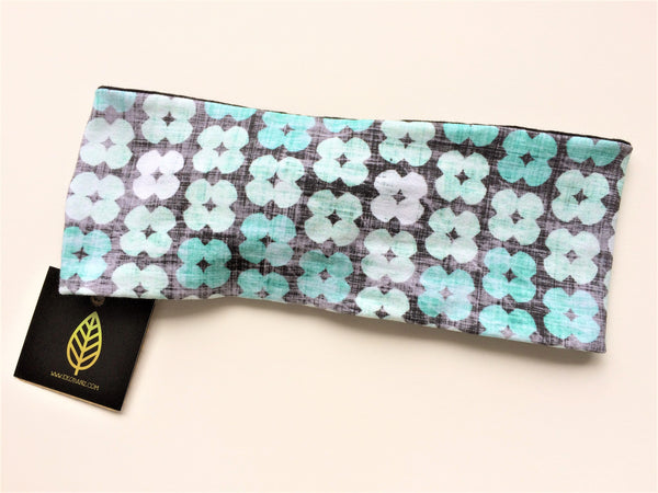 Geo Floral Turquoise Print Head-banz