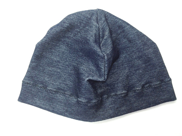 Denim Print Hat
