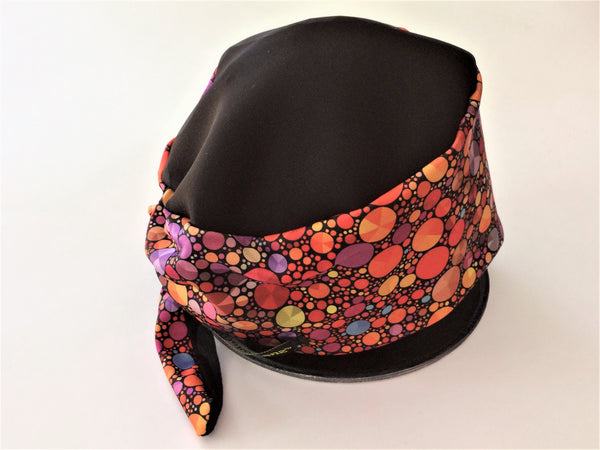 "Red and Blue ""Gem"" Print tie-back hatz"