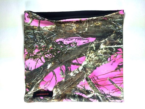 Camo Print neck-banz: Pink, Orange, Brown