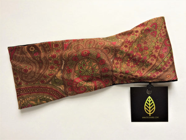 Earthy Red Paisley Print Head-banz