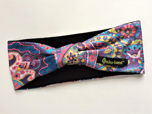 Pink/Turquoise Paisley Head-banz