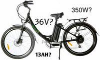 Electric Bikes - What does volts, watts, and ah mean?