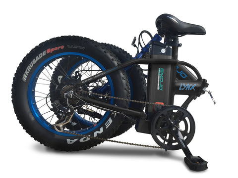 EMOJO Lynx Folding Electric Bicycle Fat Tire - FOLDS UP FOR EASY STORAGE & TRANSPORT