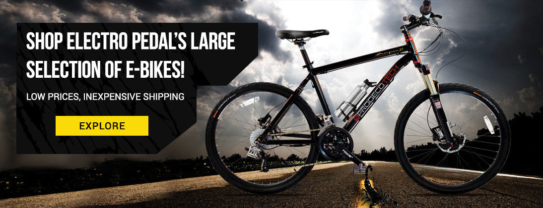 Shop our large selection of e-bikes, LOW PRICES, INEXPENSIVE SHIPPING.
