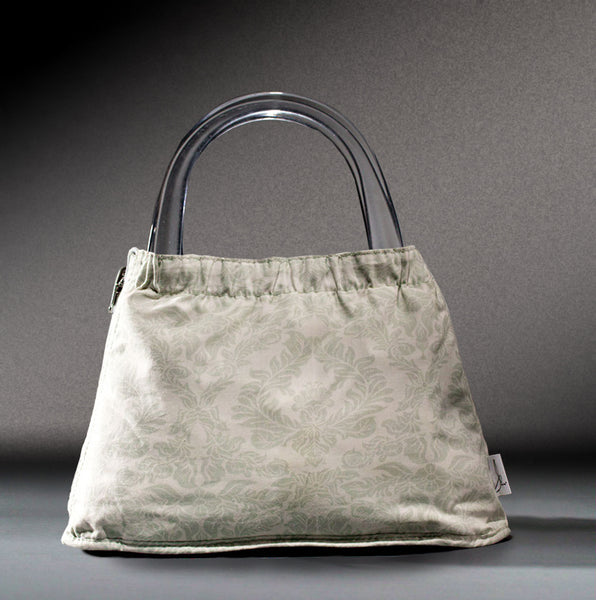 Jonny Bag w/Clear Lucite Handle
