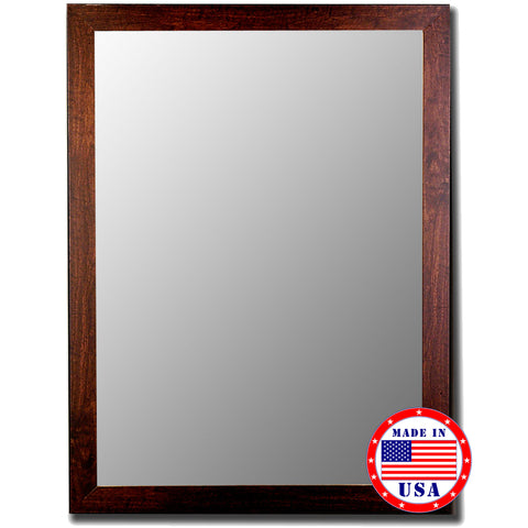 Brazil Walnut Framed Wall Mirror