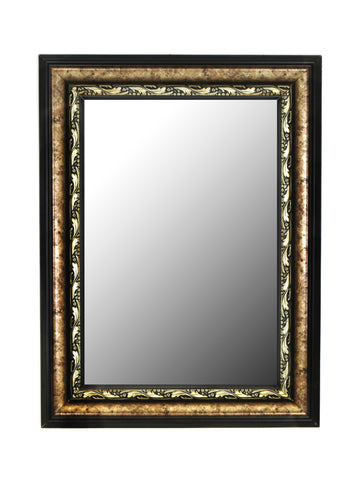 Constantine Silver Scroll Black Trim Wall Mirror