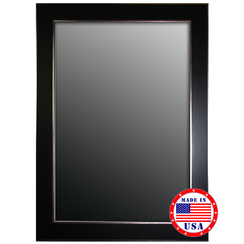 Black Forest/Silver Edged Trim Framed Wall Mirror