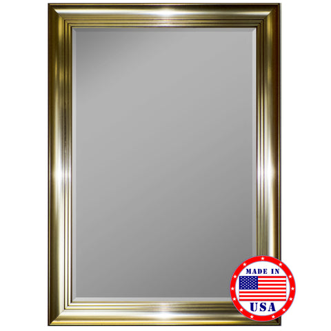 3 Step Pewter Framed Wall Mirror